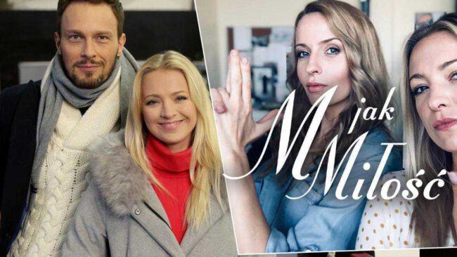 M jak miłość, Leszek (Sławomir Uniatowski), Asia (Barbara Kurdej-Szatan), Nina (Agnieszka Judycka)