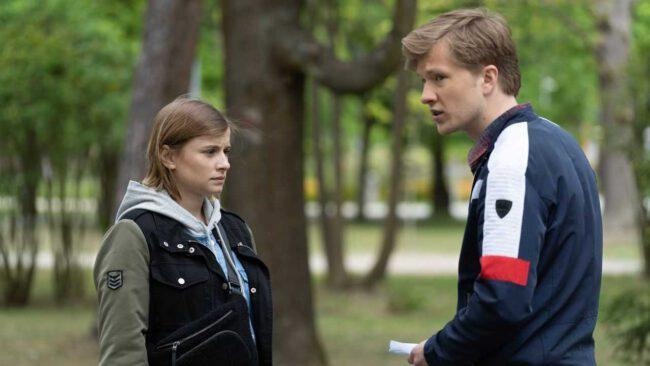 M jak miłość, Katia (Joanna Jarmołowicz), Łukasz (Jakub Józefowicz)