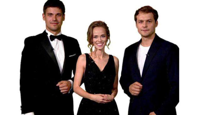 Alaksiej Jarawienka,Michaił Gawriłow oraz Katerina Kowalczuk