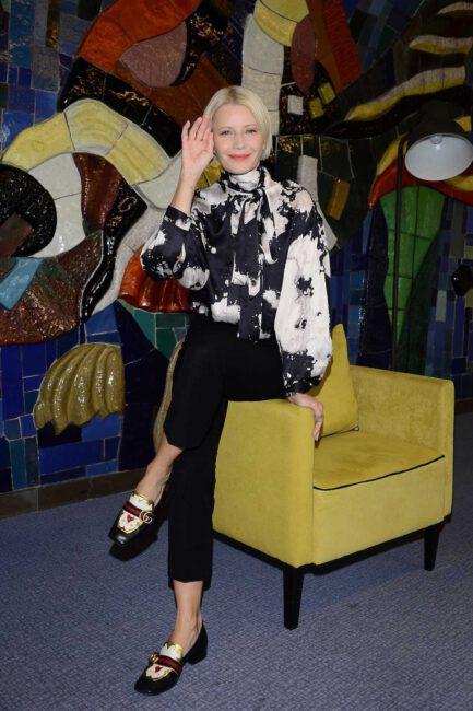 Małgorzata Kożuchowska w mokasynach Gucci