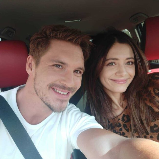 Adriana Kalska i Mikołaj Roznerski w drodze do studia Pytania na śniadanie