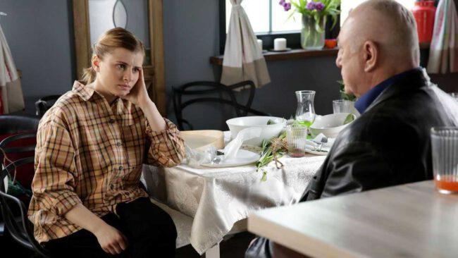M jak miłość odcinek 1454, Otar (David Gamtsemlidze), Katia (Joanna Jarmołowicz)
