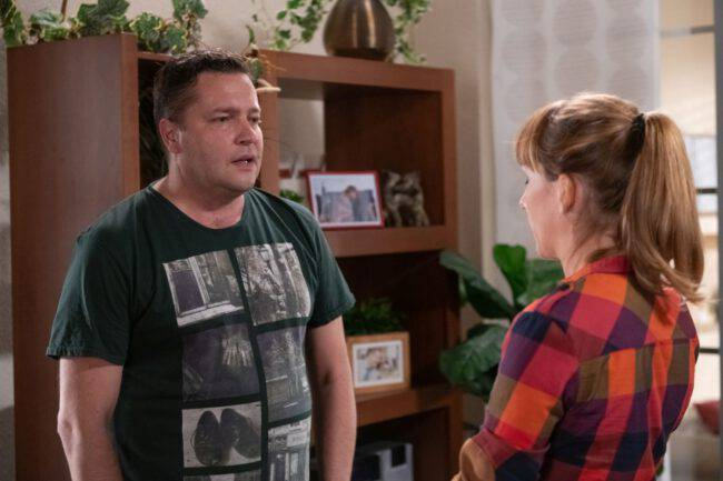 Na Wspólnej, odcinek 2959 - Michał (Robert Kudelski), Iga (Lidia Sadowa)