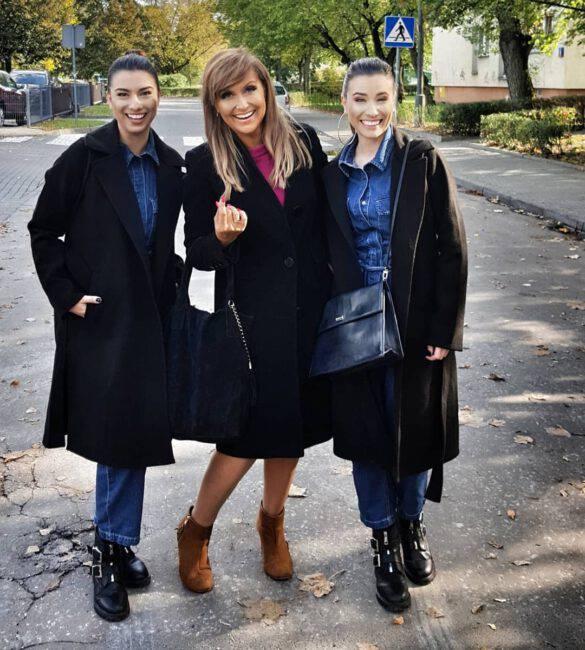 """Katarzyna Skrzynecka na planie serialu """"Miłość na zakręcie"""""""