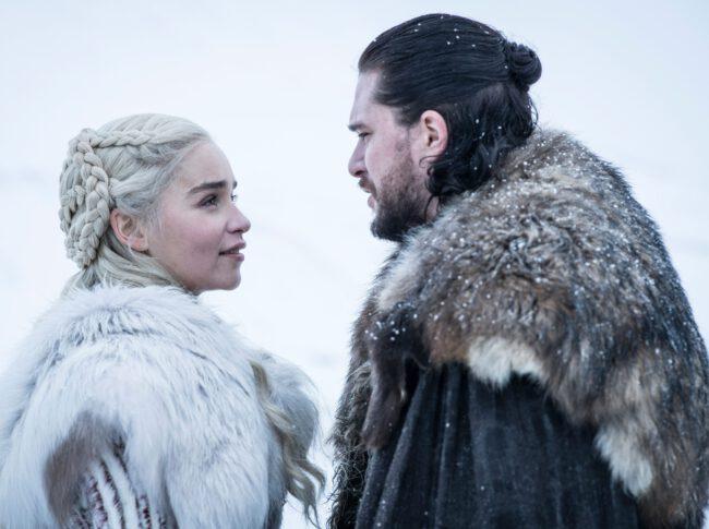 Gra o tron - John Snow (Kit Harington), Daenerys (Emilia Clarke)