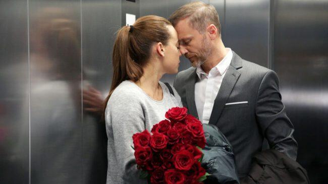 M jak miłość, nie będzie ślubu Magdy (Anna Mucha) i Andrzeja (Krystian Wieczorek)