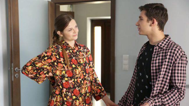 M jak miłość, Lilka (Monika Mielnicka) i Mateusz (Krystian Domagała)
