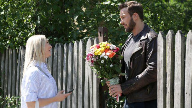 M jak miłość odcinek 1467, Joasia (Barbara Kurdej-Szatan), Leszek (Sławek Uniatowski)
