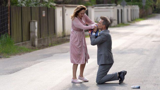 Na dobre i na złe, Kasia (Ilona Ostrowska), Falkowicz (Michał Żebrowski)