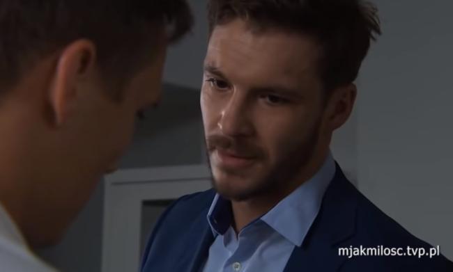 M jak miłość odcinek 1469, Marcin (Mikołaj Roznerski), Olek (Maurycy Popiel)