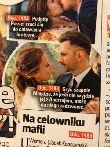 M jak miłość odc 1383, Magda (Anna Mucha) i Kamil (Marcin Bosak), fot. Tele tydzień