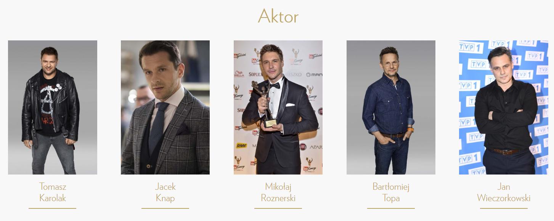 Najlepszy aktor -Telekamery 2020