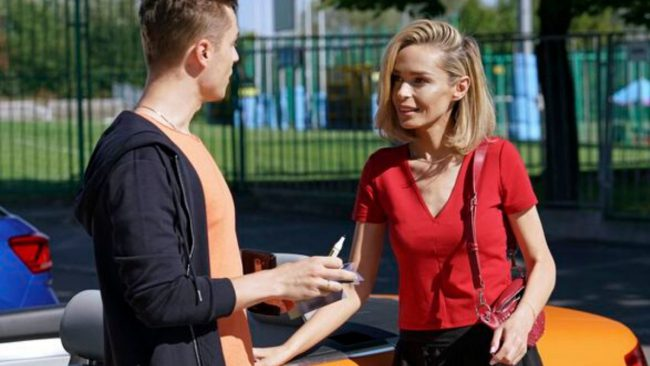 Barwy Szczęścia odc. 2182 Katarzyna Sowińska (Greta), Patryk Pniewski ( Józek sałatka)