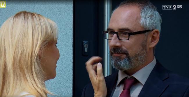 M jak miłość odcinek 1483, Agata (Katarzyna Kwiatkowska), Adam (Jacek Kopczyński)