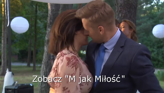 M jak miłość odcinek 1483, Kinga (Katarzyna Cichopek), Paweł (Rafał Mroczek)